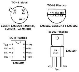 Encapsulados LM35