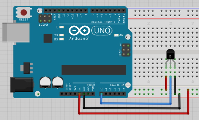 LM35 fritzing