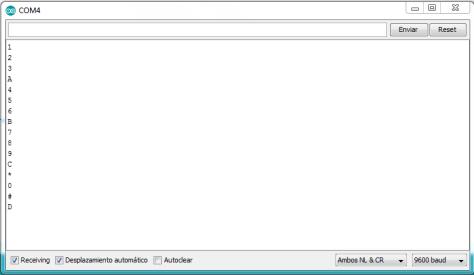 Monitor Serie Teclado I2C PCF8574